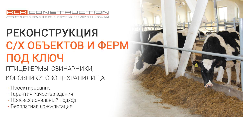 Реконструкция с/х объектов и ферм