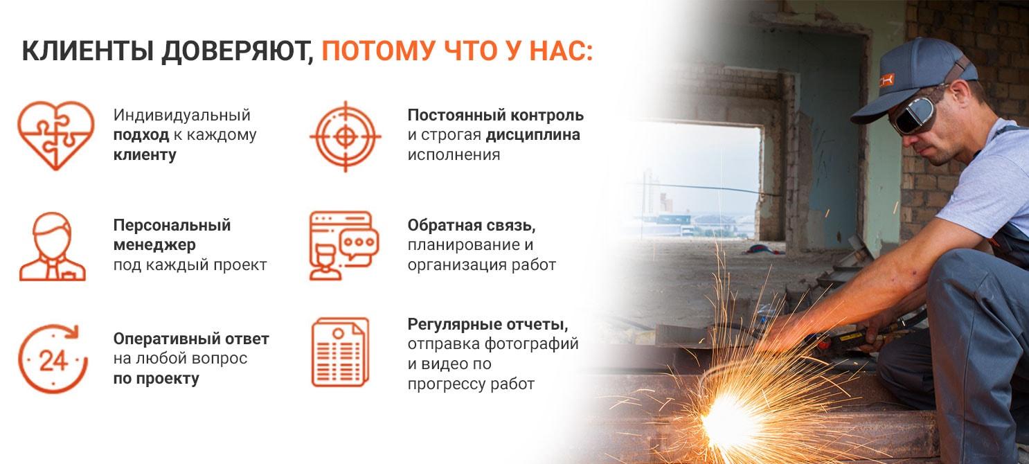 восстановление и усиление аварийных строительных конструкций