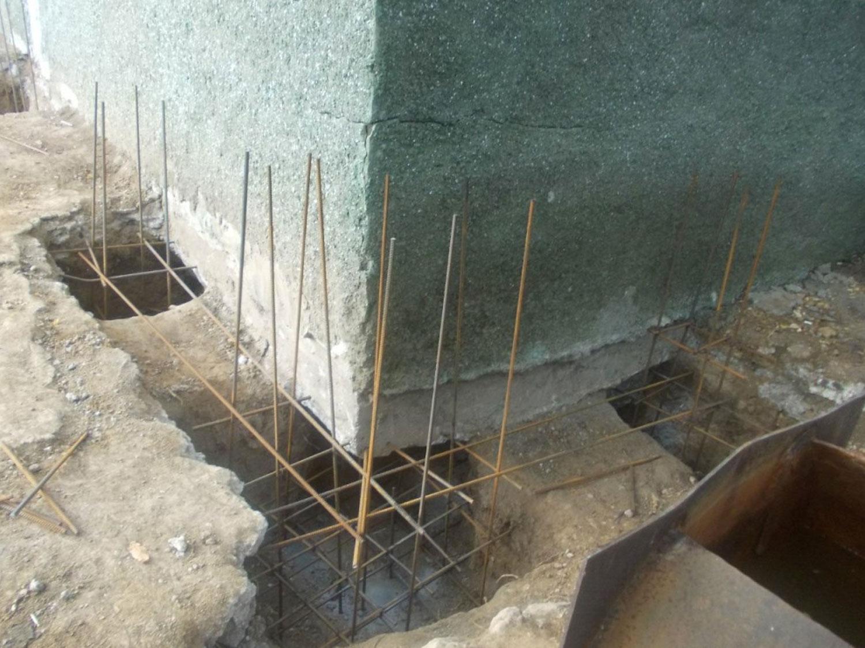 Ремонт фундамента зданий